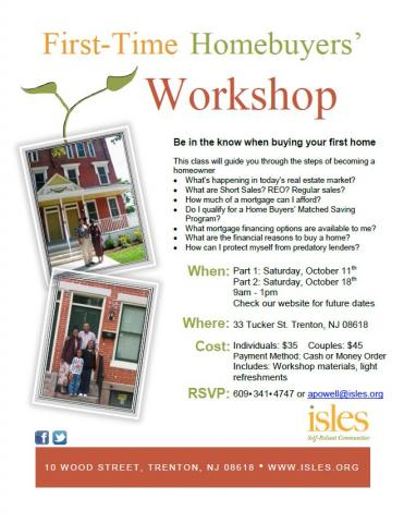 First time homebuyers 39 workshop isles inc for First time home buyers plan